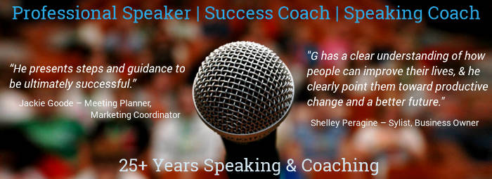 "Demo Video: Professional Motivational Keynote Speaker & Success Life Coach Gerald Paul (aka ""G"")"