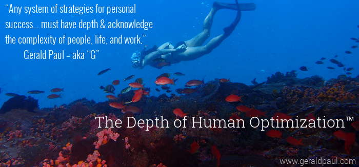 Depth of Human Optimization | Personal Growth | Scuba Diver Tropical Fish