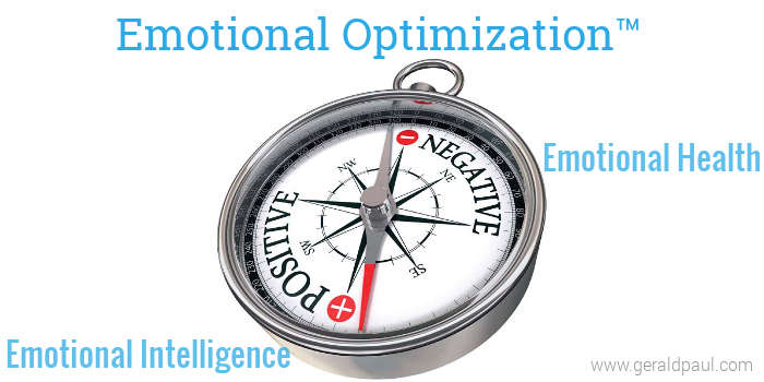 Emotional Optimization | Emotional Intelligence | Emotional Health - Compass with Positive and Negative