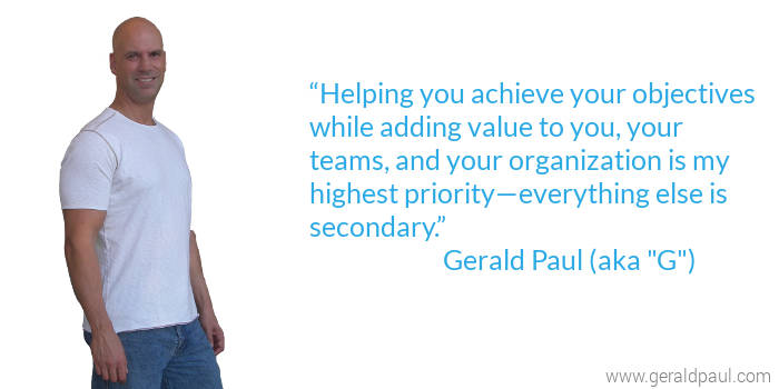 G the Leader | Facilitator - Professional Motivational Keynote Speaker Gerald Paul