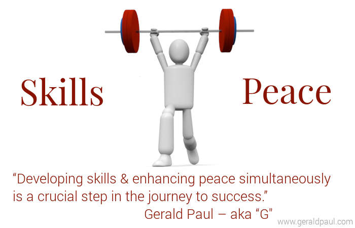 Developing Skills & Peace | Animated Figure Weight Lifting