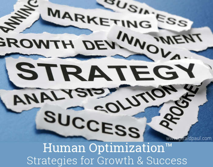 Human Optimization: Strategies for Growth & Success | Strategy & Growth Words