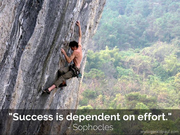 Success Is Dependent On Effort | Sophocles | Mountain Climber