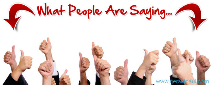 "What People Are Saying - Professoinal Motivational Keynote Speaker Gerald Paul (aka ""G"")"