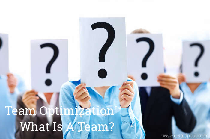 "What is a Team? Two Possible Approaches to Defining ""Team"""