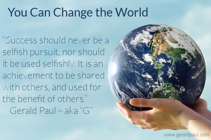 You Can Change the World | Hands Holding Earth